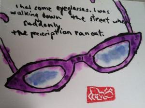 Eyeglasses etegami Stephen Wright quote